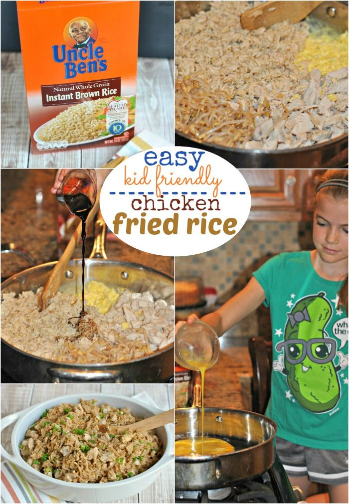 Easy, Kid friendly, Chicken Fried Rice recipe! #bensbeginners #dinner