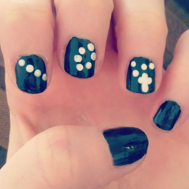 cross nail art | Nail Designs | Pinterest