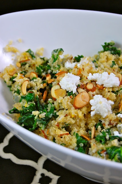 Quinoa and Kale Pilaf: one-pot wonder with goat cheese, lemon and ...