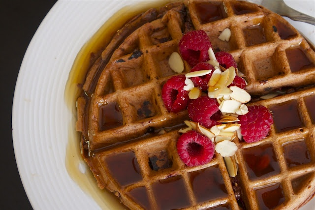 Dark Chocolate Raspberry Quinoa Waffles -- SO excited to try this! I ...