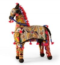 Cloth horse from India #folk