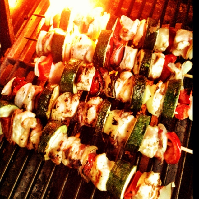 Scallop Skewers With Herb Oil Recipe — Dishmaps