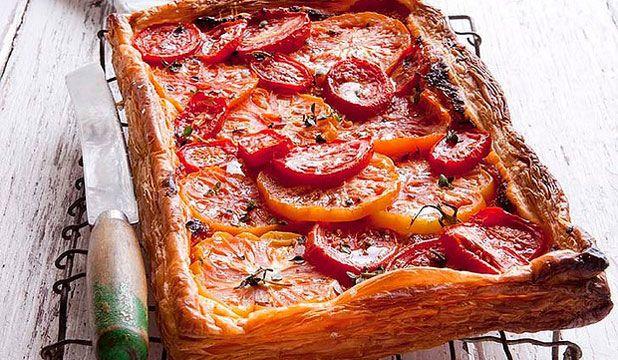 Easy tomato tart from Bill Granger: This tart packs a double tomato ...