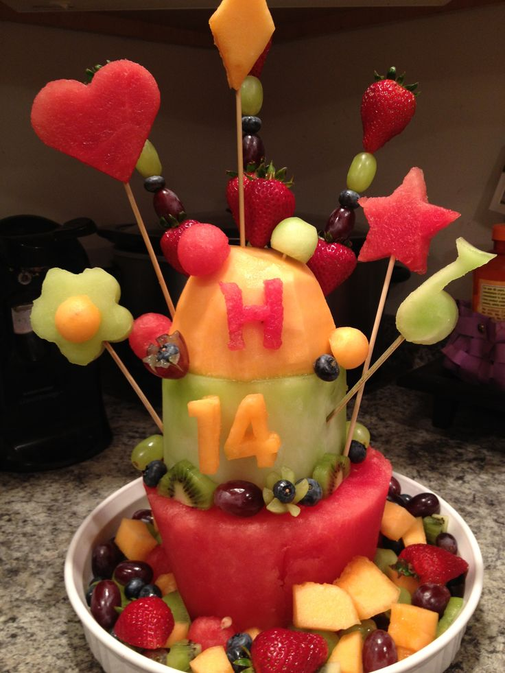 Fruit Cake !!!! Made from REAL fruit!  Party ideas  Pinterest