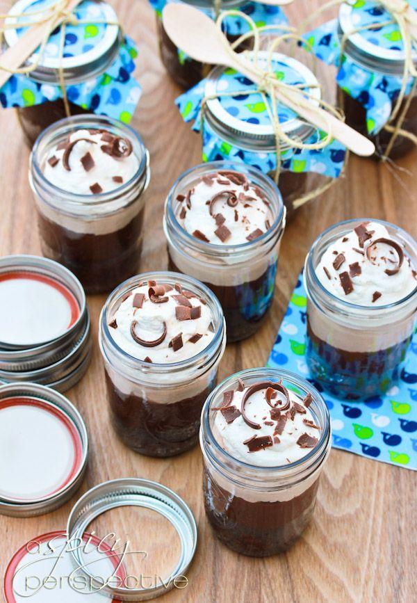 Chocolate Malt Brownie in a Jar | Recipe
