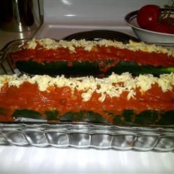 Italian Meatloaf in Zucchini Boats Allrecipes.com