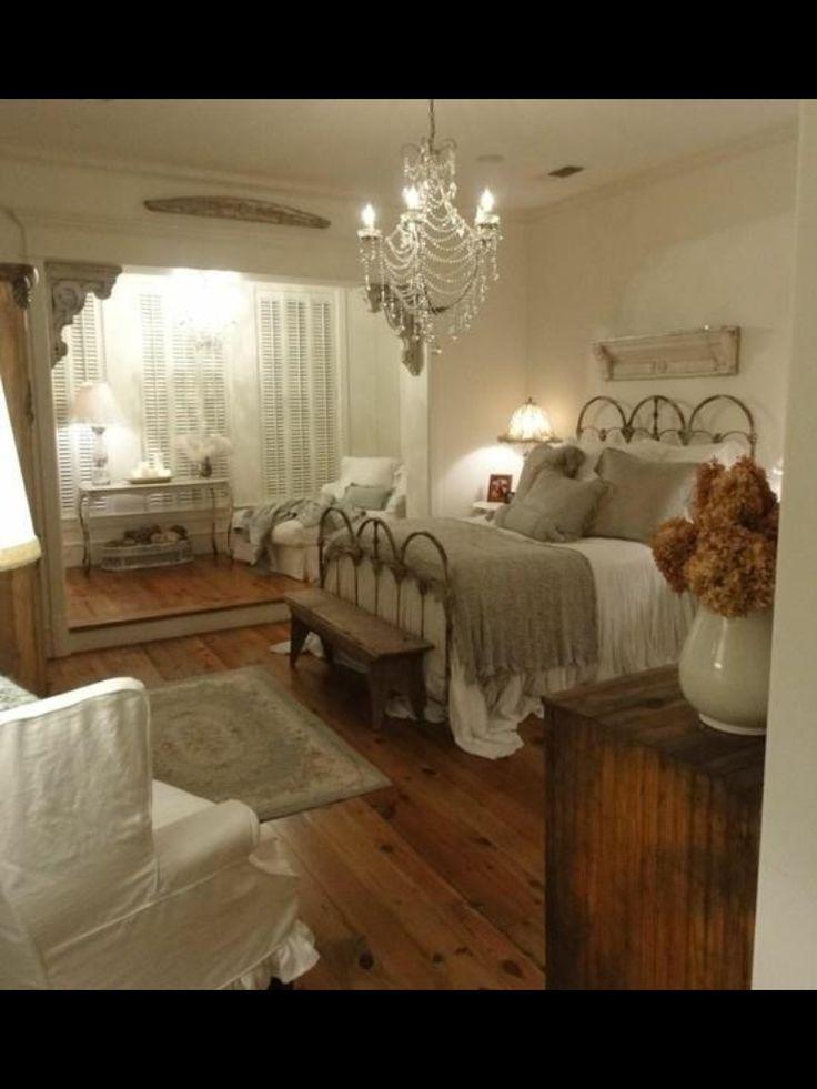 White Vintage Bedroom Chandelier Decor Home Sweet Home Pinterest