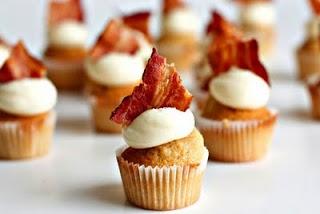San Valentin: cupcakes bacon tocino