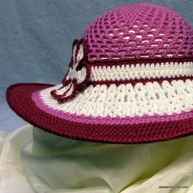 Simple Crochet Pattern Baby Hat : Be-A-Start-Childs-Sun-Hat-Free-Crochet-Pattern-Pink-and ...