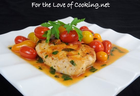 Chicken Breasts with Tomato Herb Pan Sauce Serves 2. That works out to ...