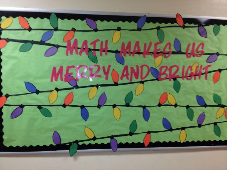 Christmas lights math bulletin board | School ideas | Pinterest
