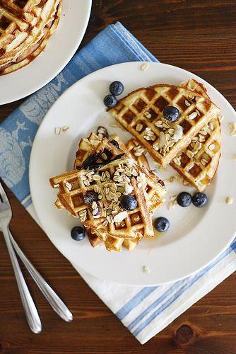 Gluten-free blueberry muesli waffles.   yum   Pinterest