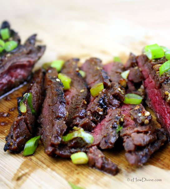 Korean-Style Grilled Flank Steak Recipe — Dishmaps