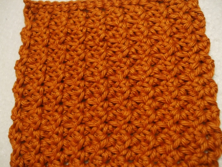 Textured Crochet Pattern-Poorboy Stitch crochet Pinterest