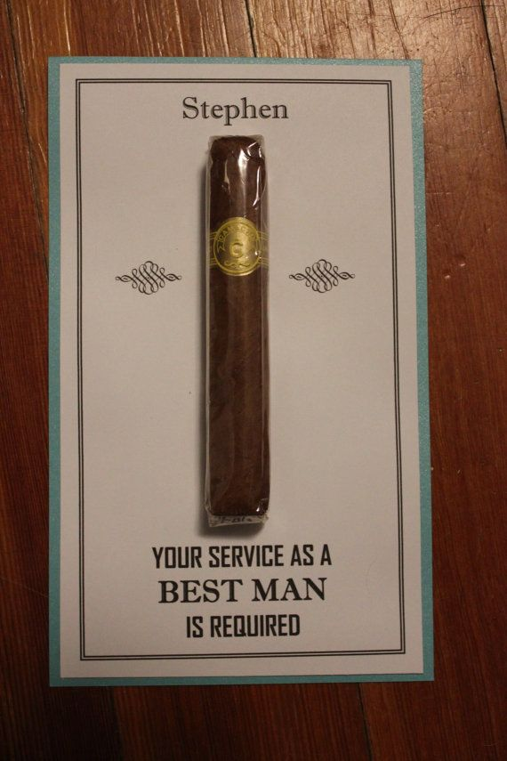 Will You Be My Groomsman Best Man Usher Junior Jr groomsman groomsmen Cigar Card  with name 1 Color on Etsy, $2.75