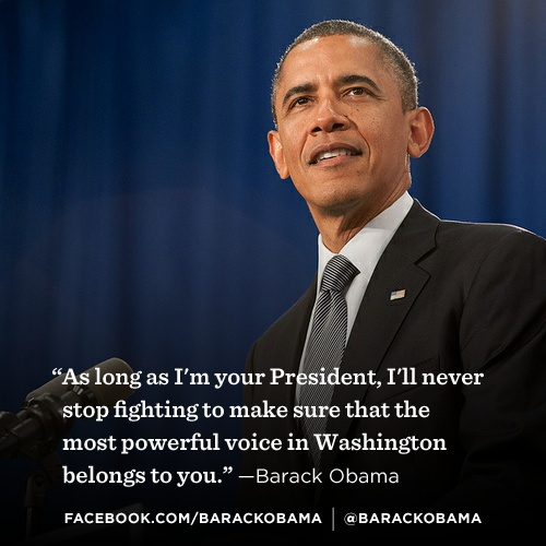 Stand with President Obama to tell groups like