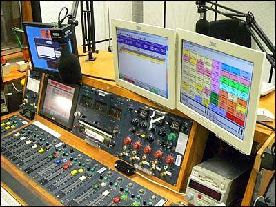 A Mark 3 radio broadcasting desk