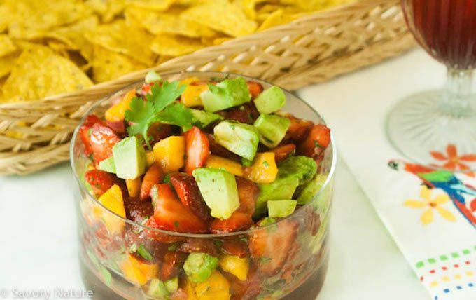 Strawberry Mango Avocado Salsa - celebrate spring and local ...