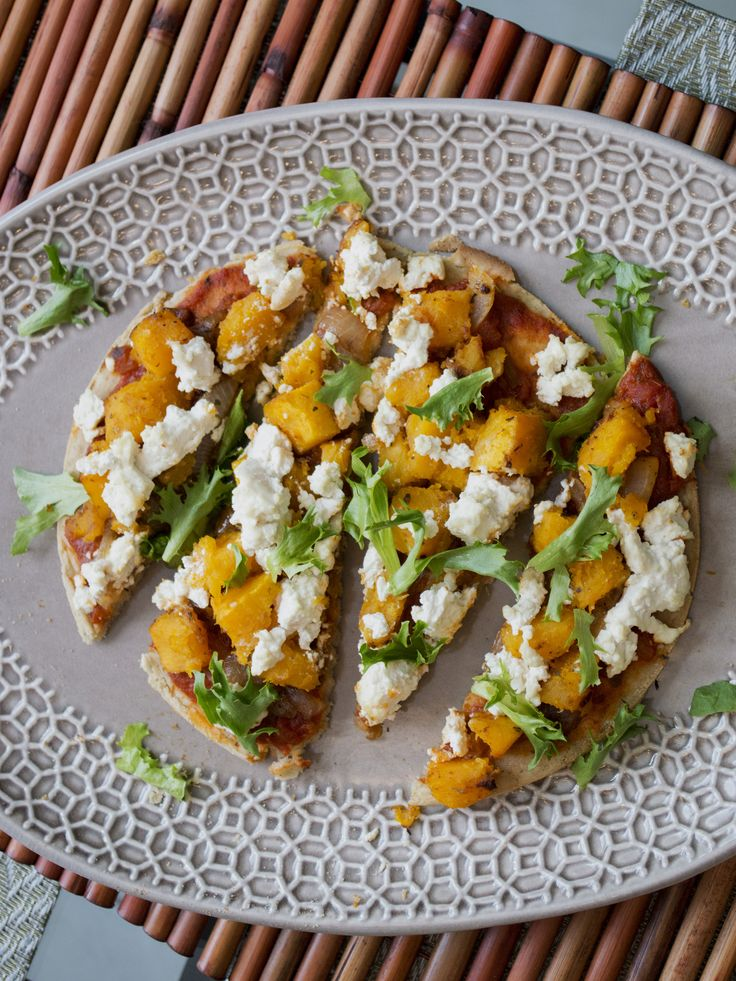 Butternut Squash and Caramelized Onion Flatbread with Porcini Mushroom ...