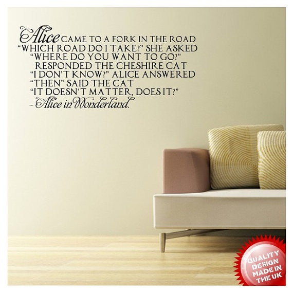 Alice in Wonderland Cheshire Cat Quote Wall Art by WallandFrame, $36 ...