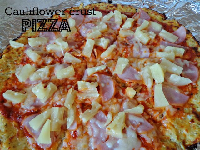 Life as I know it: Foodie Friday: Cauliflower Crust Hawaiian Pizza