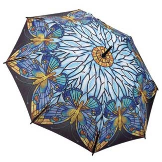 Galleria Art Print Walking Length Umbrella - Tiffany Butterfly; Price: £25.00