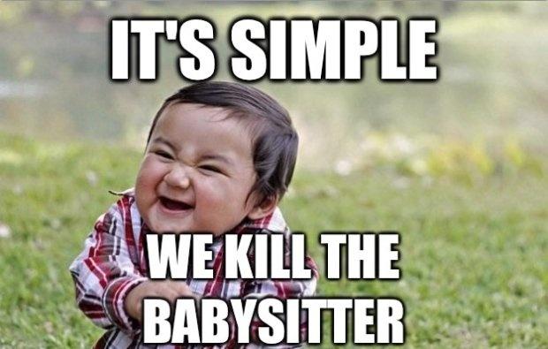 evil toddler   Funnies...