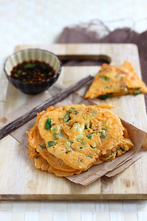 Korean Scallion Pancake #Pajeon #banchan. I love making these, might ...