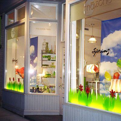 ma zone home decor spring window visual merchandising