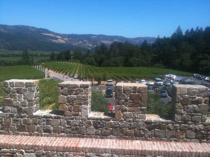 View from the castle in Napa Valley... I miss it!!!