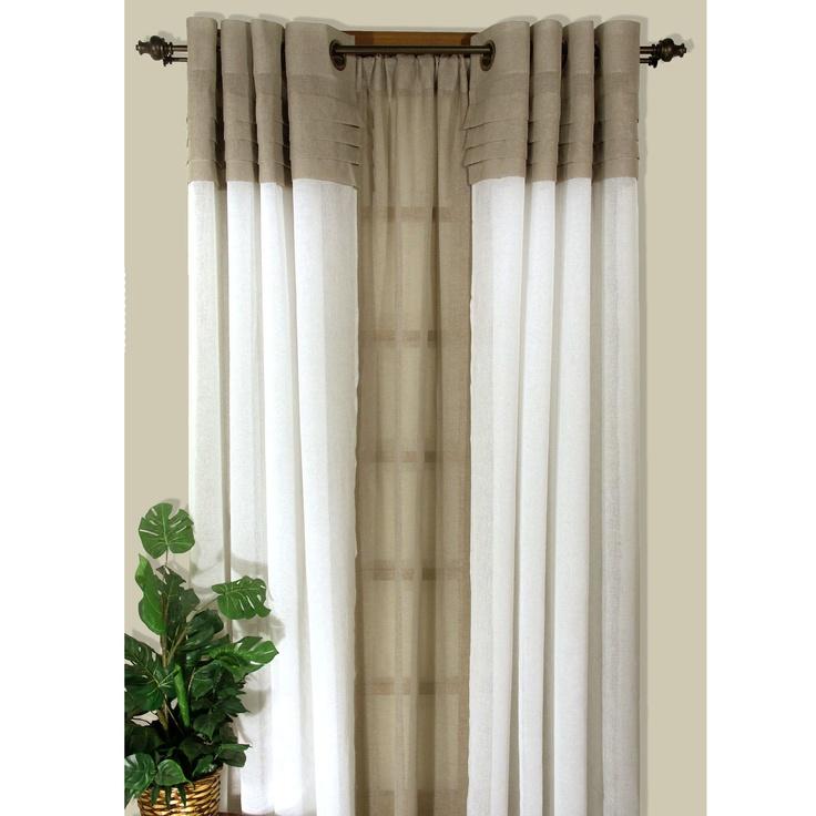 Geneva semi sheer grommet curtain panels new apartment for Painting sheer curtains