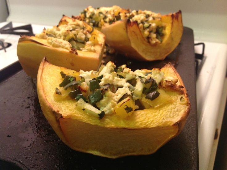 Roasted Vegetable Stuffed Spaghetti Squash with Goat Cheese ...