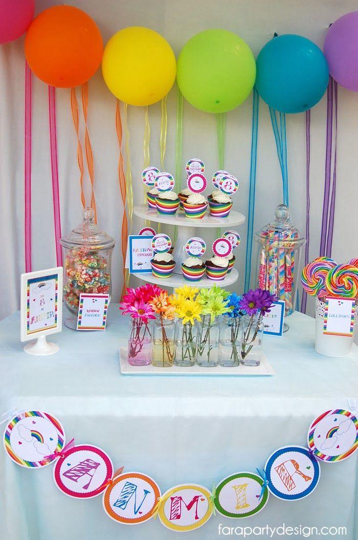 Un arcoiris de globos fiesta pinterest - Globos para fiesta ...