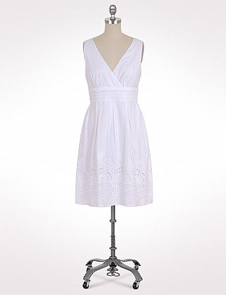 White  Dress on Petite Embroidered Sundress   Dressbarn   Lady In White