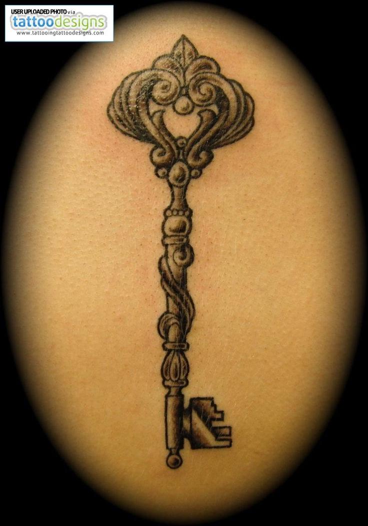ornate key tattoo the image kid has it. Black Bedroom Furniture Sets. Home Design Ideas