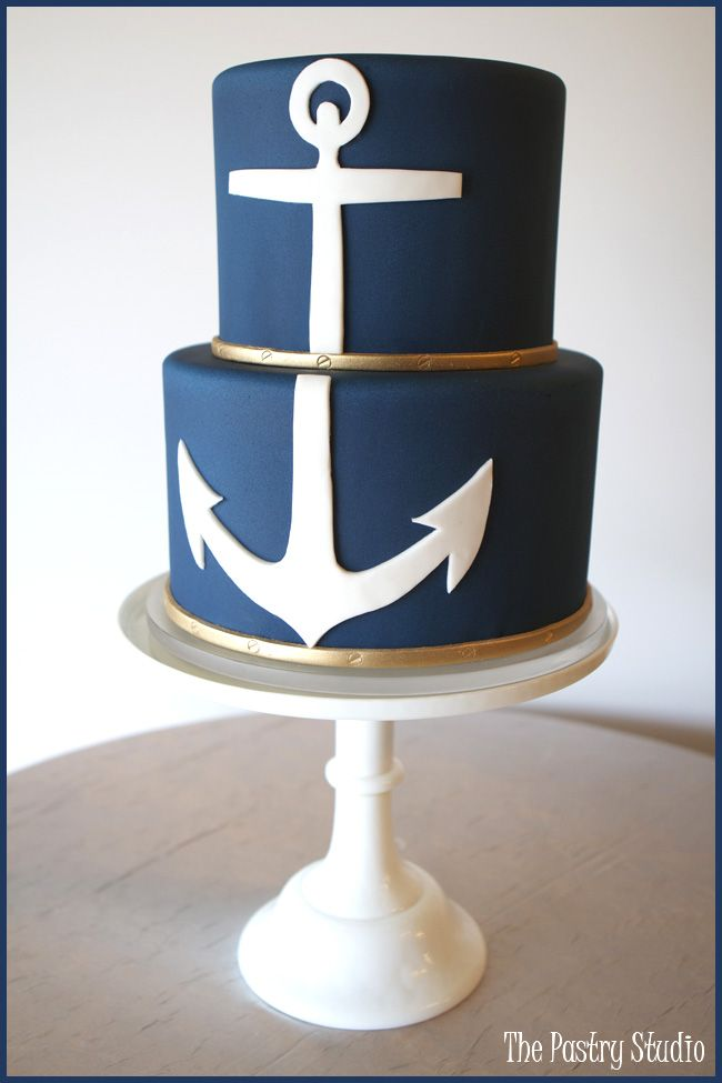 Classic Navy Nautical Anchor Cake by The Pastry Studio