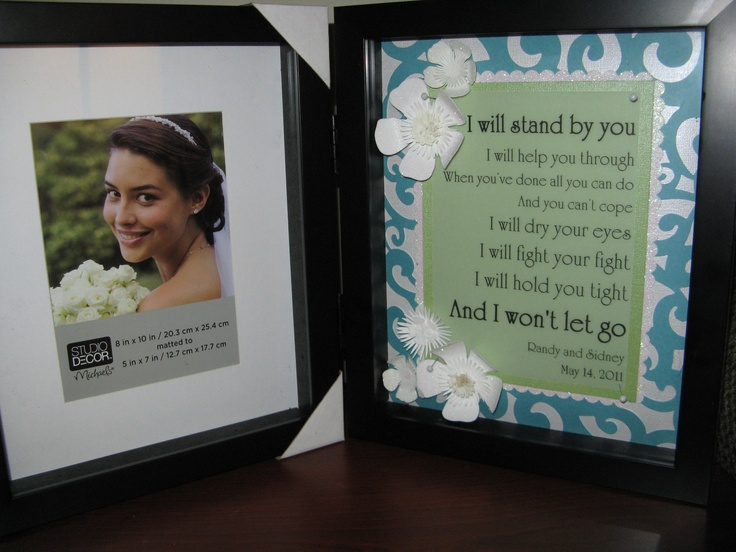 inexpensive wedding/shower gift! (Double-sided photo frame/shadow box ...