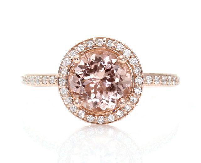 Rose Gold Ring: Rose Gold Ring Morganite