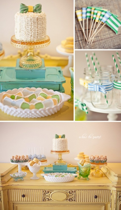bow tie themed party baby shower pinterest