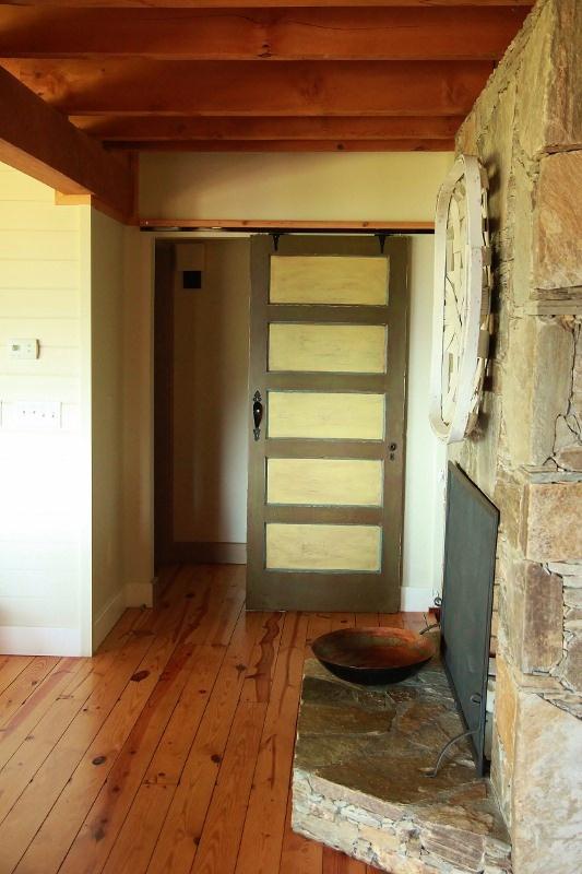 Sliding Barn Door With Glass Panels Entrance Pinterest