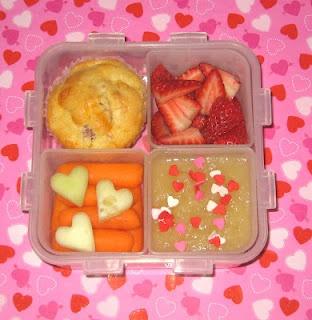 ham amp cheese muffin strawberries applesauce carrot sticks and cheese ...