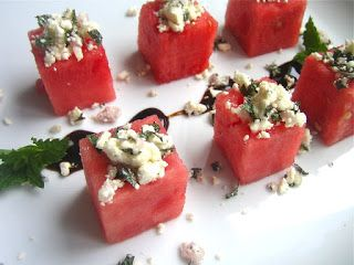 Watermelon Bites with Feta + Mint | The Social Bar and Grill- Tacoma ...