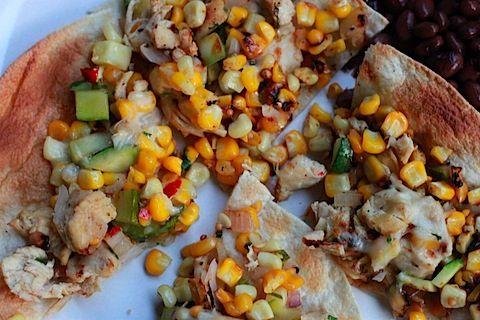 Chicken and Summer Vegetable Tostadas | yum- lunch. | Pinterest