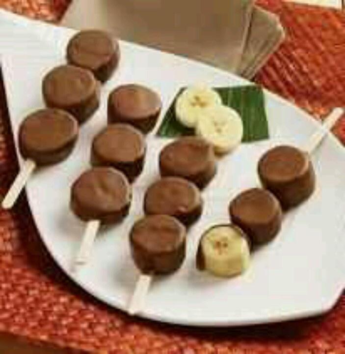 Frozen banana pops   Desserts   Pinterest