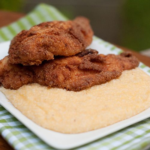 Fried Catfish with Cheese Grits from @Lana Stuart | Never Enough Thyme ...