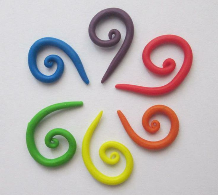 Crochet Stitch Markers Diy : Crochet Stitch Markers - polymer clay DIY
