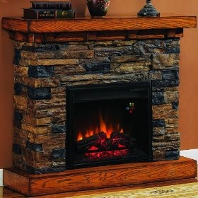 stone electric fireplace home sweet home pinterest