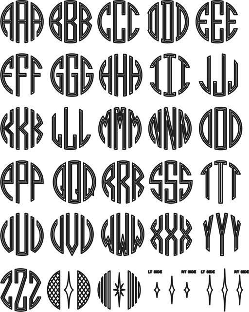 Monogram templates | DIY | Pinterest