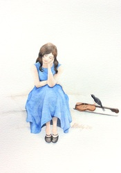 """""""A true friend knows the song of your heart and can sing it back to you when you've forgotten the words"""".     'Song of My Heart' (2012), a watercolour painting by artist and illustrator Katherine Appleby.    www.katherineappleby.weebly.com"""