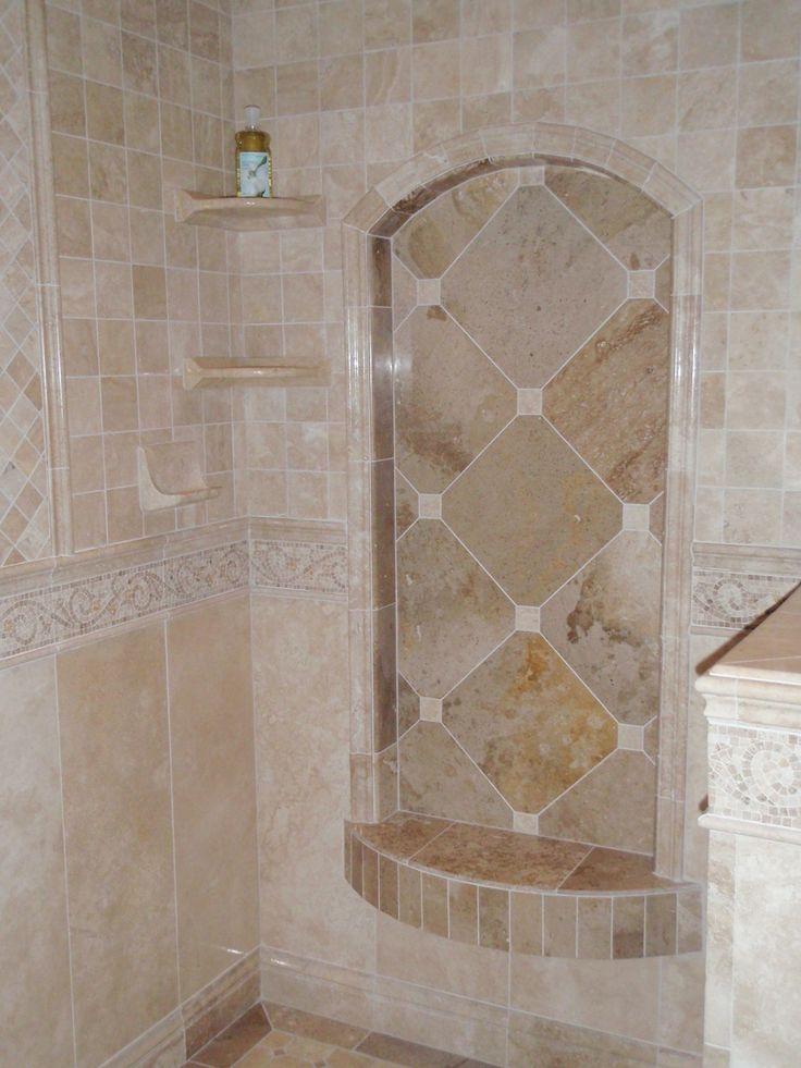 shower tile inlet shelf bathroom pinterest. Black Bedroom Furniture Sets. Home Design Ideas